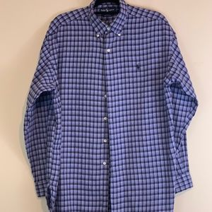 Ralph Lauren Polo Mens L Plaid Dress Shirt